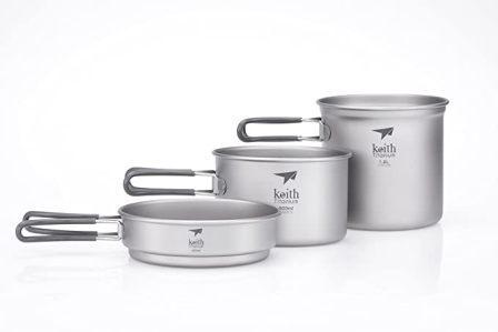 Keith Titanium Ti6014 Pot and Pan Set