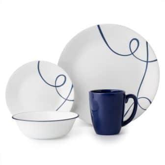 Livingware True Blue Dinnerware Set by Corelle