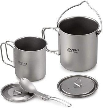 Lixada Titanium Cookware Set by Camping