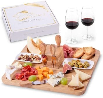 Maison del Mar Exquisite Bamboo Cheese Board Set
