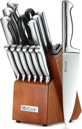 McCook MC29 14-Piece Knife Set with Hardwood Block