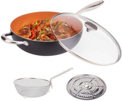 Michelangelo 5 Quart Stir Fry Pans