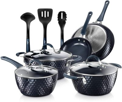 NutriChef Excilon Nonstick 11 Piece Cookware Set