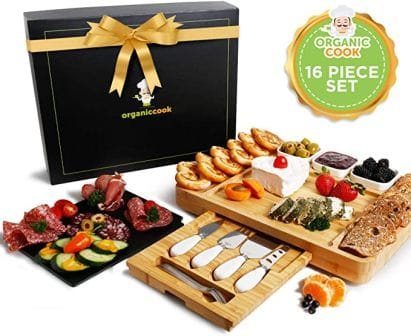 Organic Cook Bamboo Cheese Board Set