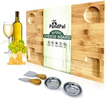 PandPal Bamboo Cheese Board Set