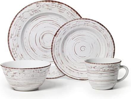 Pfaltzgraff Trellis 16-Piece White Dinnerware Set (5217179)