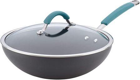 Rachael Ray Cucina Anodized Stir Fry Wok Pan