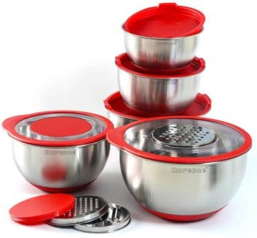 Rorence Stainless Steel Non-Slip Mixing Bowls