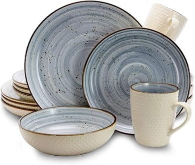 Round Stoneware Luxurious Mellow Dinnerware by Elama