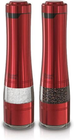 Russell Hobbs RHPK4100RED Electric Salt and Pepper Mill Set