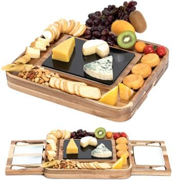 Shanik Acacia Cheese Board Set
