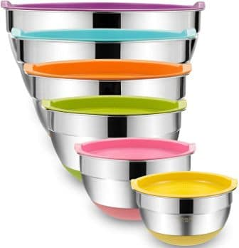 Steel Metal Bowls by Umite Chef