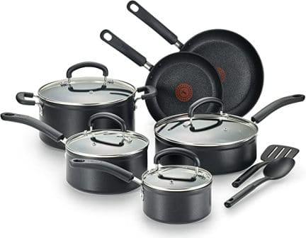 T-fal C561SC Titanium Advanced Nonstick Cookware Set