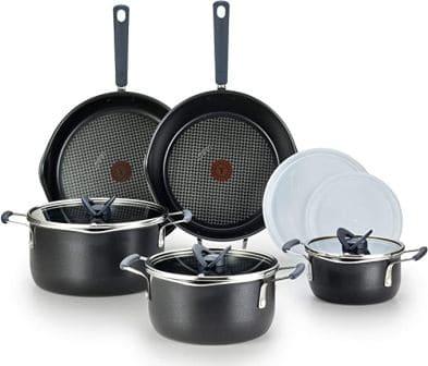 T-fal One Stackable Titanium Nonstick Cookware Set