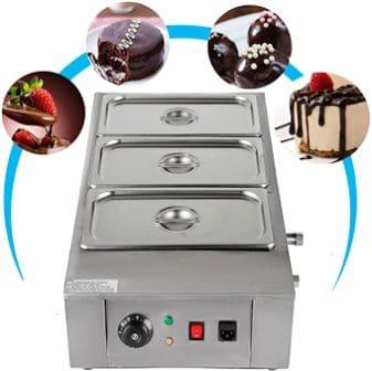 VEVOR Silver Chocolate Fountain Fondue Machine