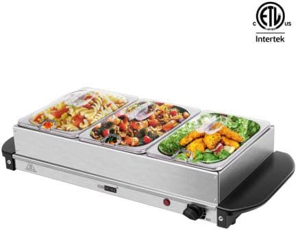 VIVOHOME 2 in 1 Electric Buffet Server