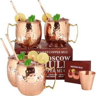 A29 Moscow Mule Copper Mugs – Set of 4