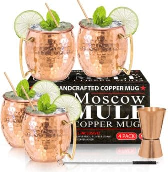 Benicci Moscow Mule Copper Mugs – Set of 4