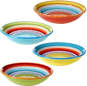 Certified International 25627SET/4 Mariachi Soup/Pasta Bowls