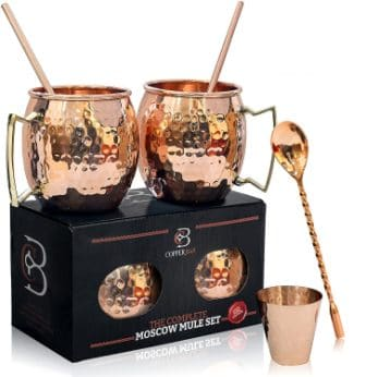 Copper-Bar Moscow Mule Copper Mugs – Set of 2