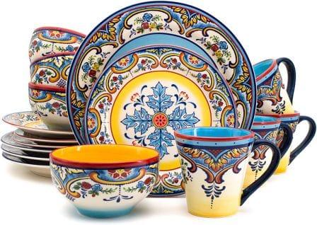 Gibson Home Color Speckle Multi Color Ceramic Bowl Set
