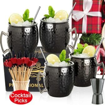 Linall Brand Moscow Mule Bar Set of 4