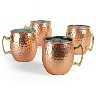 PG Set of 4 Moscow Mule Mug Copper Plated