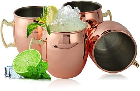SXUDA Copper Moscow Mule Mugs Set of 4