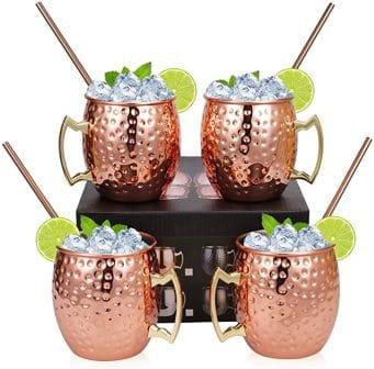 Widousy Moscow Mule Copper Mugs – Set of 4