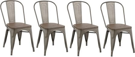 BTEXPERT Industrial Kitchen Classic Trattoria Chair