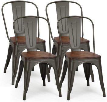 COSTWAY 18 Inch Dining Chair Set of 4