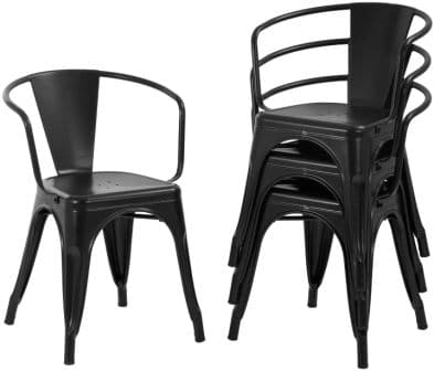 FDW Metal Chair Dining Chairs