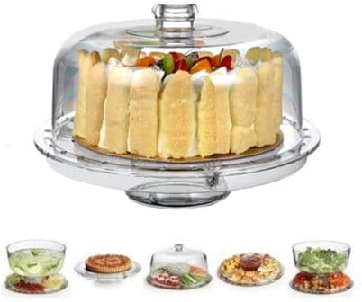 H&B Life Acrylic Cake Stand with Dome Cover