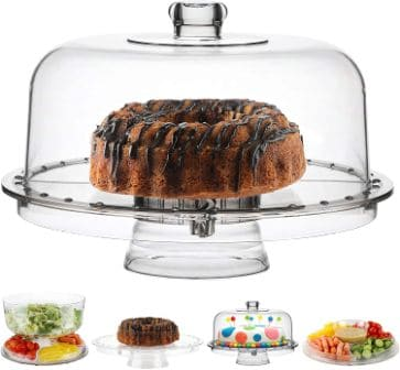 Homeries Cake Stand with Decorative Dome Cover
