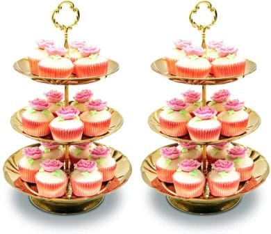 Imillet Three Tier Cake Stand and Fruit Plate