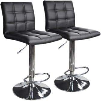 Leopard Outdoor Products Leather Barstools