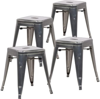 Poly and Bark Trattoria Dining Metal Side Chair