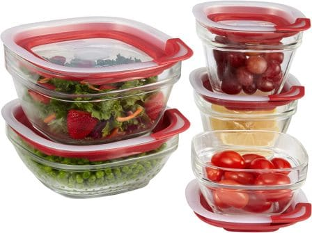 Rubbermaid Easy Find Lids Glass Food Storage And Meal Prep Containers