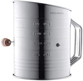 Bellemain Stainless Steel 5 Cup Flour Sifter