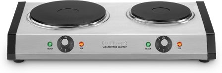 Cuisinart 2-Plate Burner with 1300W and 500-W Plates