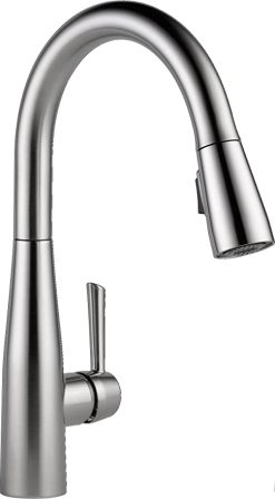 Delta Lenta™: Single-Handle Pull-Down Kitchen Faucet with Touch2O Technology