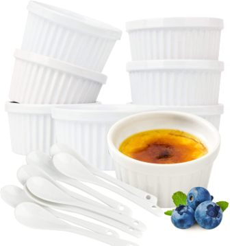 Duido 6-oz Crème Brulee Ramekins
