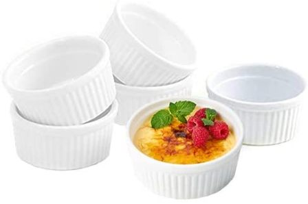 K Basix 4.5oz Porcelain Crème Brulee Ramekins