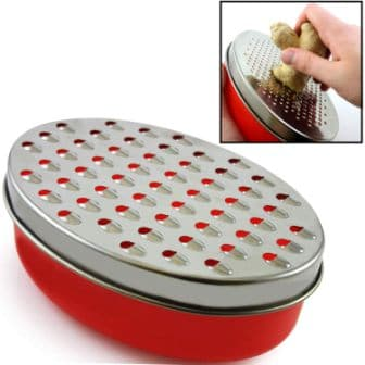KEISCCO Cheese Grater Citrus Lemon Zester with Food Storage Container Lid