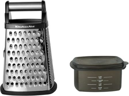 KitchenAid Gourmet 4-Sided Stainless Steel Box Grater with Detachable Storage Container