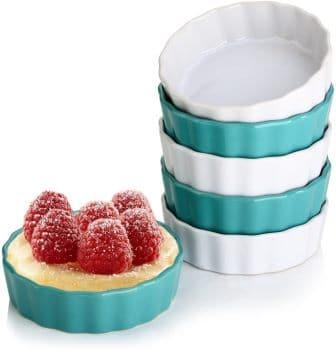 LIFVER 5oz Ceramic Crème Brulee Ramekins