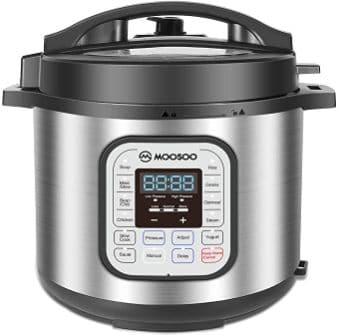 Moosoo 6-Quart Pressure Cooker Air Fryer