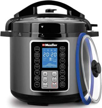 Mueller's Pressure Cooker Instant Crock 10-in-1 Pot Pro