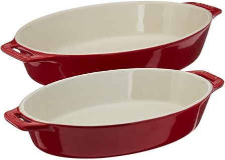 STAUB Glass Porcelain Gratin Dishes (Set of 2)