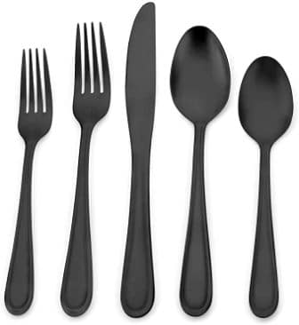 Begeel 20-Piece Matte Black Silverware Set